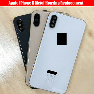 For Apple IPhone X Metal Frame Back Chassis Housing Rear Glass Cover Replacement • 32.95£