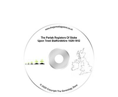 The Parish Registers Of Stoke Upon Trent Staffordshire 1629-1812 • 6.99£