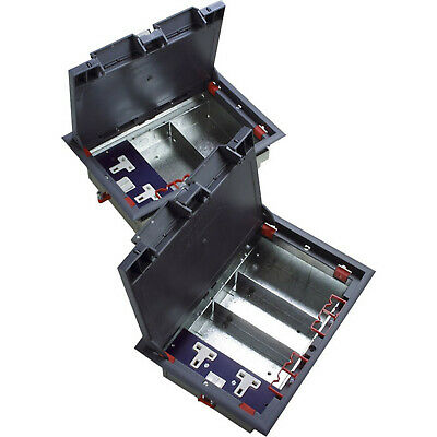 Excel 3-Compartment Floor Box (including 1 Double Switched Power Socket) • 29.99£