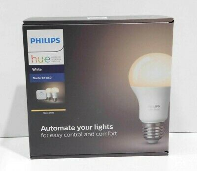 AU118.99 • Buy Philips Hue White Ambiance Starter Kit | 2x Bulbs | Bridge