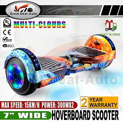 AU291.11 • Buy 7  Bluetooth Glowing Music Hoverboard Scooter Self Balancing Electric Skateboard