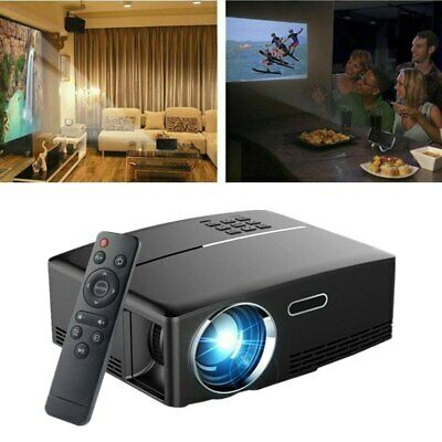 Portable 4K 1080P HD Projector 3000 Lumens LED Video Home Theater HDMI USB VGA • 65.31£