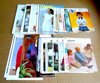 Multi-list Selection Of Wendy & Hayfield Ladies, Mens & Kids  Knitting Patterns • 2.95£
