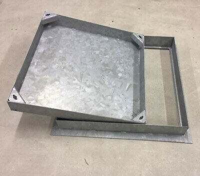 450x450x80 MANHOLE COVER Recessed - All Steel Frame & Tray • 45£
