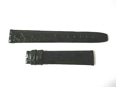 New TIFFANY & Co Watch Strap Black 16R, Crocodile • 74.22£