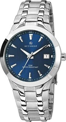 £41.99 • Buy Accurist Men's Watch With Blue Dial And Silver Bracelet MB860N