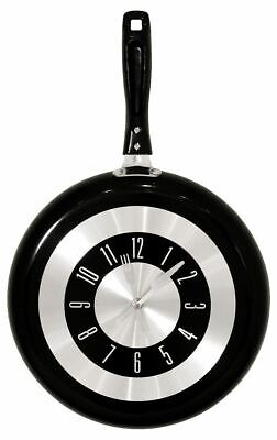Clock Frying Pan Creative Gifts Kitchen Stylish Wall Hangings Unique Home • 9.99£