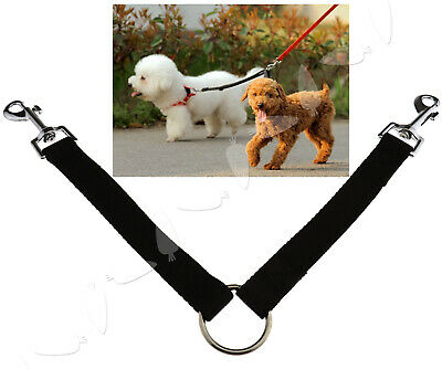 AU12.68 • Buy Double Ended Dog Lead For 2 Dogs 2 Way Coupler Leash Duplex Walking