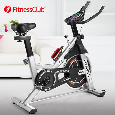 Grey Exercise Bike Home Gym Bicycle Cycling Cardio Fitness Training Indoor • 164.99£