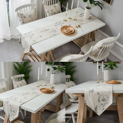 AU20.41 • Buy Rectangle Flower Printed Table Runner Tablecloth Dining Desk Covers Home Decor