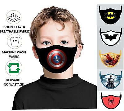 $ CDN20.08 • Buy Face Mask Kids Washable Children Breathable Reusable Double Layer Protection PPE