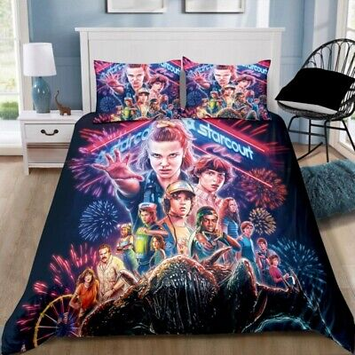 AU46.95 • Buy Stranger Things Quilt Cover Set - Single Double Queen King