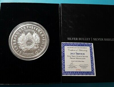 $ CDN199 • Buy 2013 Trivium Silver Bullet/ Silver Sheild 5 Troy Oz Silver Proof Trends  $250 +