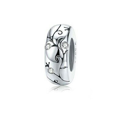 AU24.99 • Buy SOLID Sterling Silver Silicone Spacer Sparkling Vine Charm - By Pandora's Wish