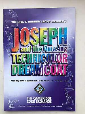 £3.95 • Buy JOSEPH AND THE AMAZING TECHNICOLOR DREAMCOAT  Musical TOUR Theatre Programme