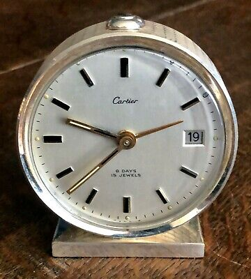 AU1771.22 • Buy CARTIER 8 DAY DATE ALARM 64mm Round WHITE METAL 1964