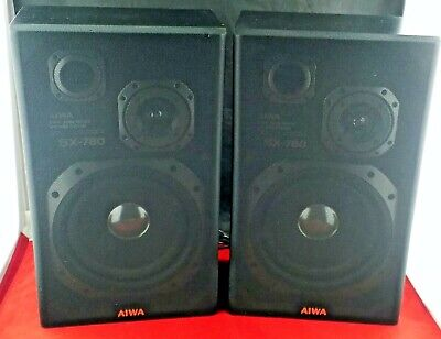 $45 • Buy Aiwa SX-780A 2-Way Bookshelf Speakers 18  Tall 55W RMS Clean Tested And Working