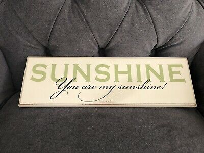 "Wooden Wall Desk Plaque Sign  SUNSHINE You Are My Sunshine"" Danielson Designs • 9.70£"