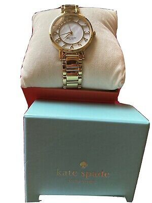 $ CDN82.93 • Buy Kate Spade Yellow Gold Ladies Watch Scallop Mother Of Pearl Face 0780 Bracelet