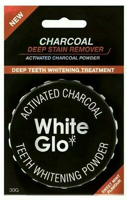 AU14.63 • Buy White Glo Activated Charcoal Teeth Whitening Powder 30g