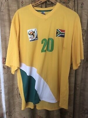 £8.99 • Buy South Africa World Cup Home Football Shirt Top 2010 Yellow XL