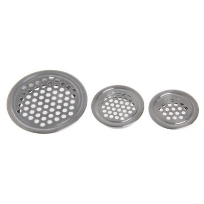£2.99 • Buy Stainless Steel Round Air Vent Grille / Wardrobe Cabinet Metal Ventilation Plug