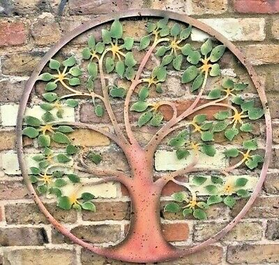 Green Tree Of Life Garden Wall Art Ornament Fence Metal Gift Present In/Outdoor  • 44£