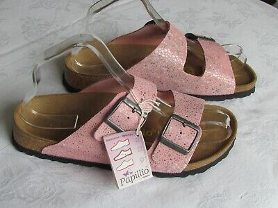 NEW Papillio Ladies Pink Marble Leather Mules Sandals UK Size 5 EU 38 • 69.99£