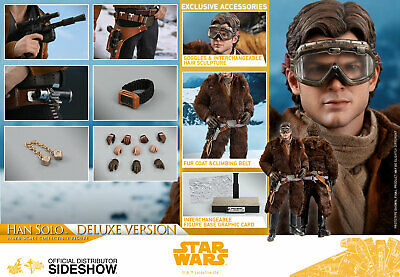 $255 • Buy Solo Star Wars Story Han Solo Deluxe Version Figure Sixth Scale Hot Toys 903610