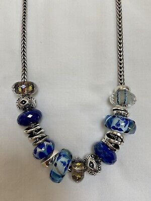 $251 • Buy Gorgeous Trollbeads On Necklace Chain W/ Jumbo And Unique Beads - NR!