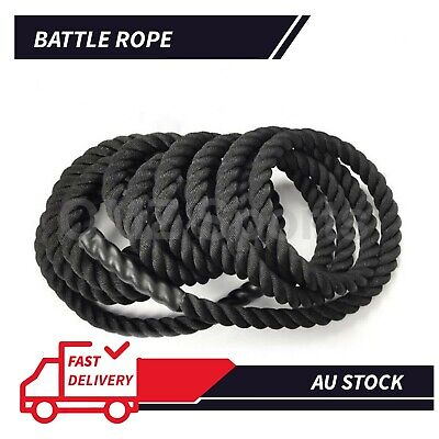 AU69.90 • Buy 38mm Heavy Battle Ropes 9m,12m,15m Home Gym Strength Training Exercise Workout