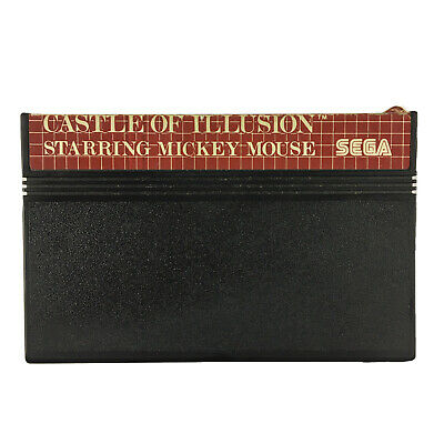 AU24.99 • Buy Castle Of Illusion Starring Mickey Mouse Sega Master System Game Cart OZI SOFT
