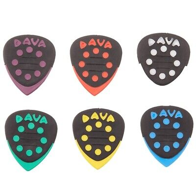 AU23.35 • Buy Dava Grip Tips Delrin Guitar Picks - 6 Pack Rhythm And Lead In 1 Pick