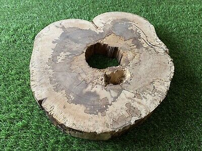 Air Dried Solid English Beech Tree Ring Coffee Table Top Stool Epoxy Resin (001) • 99£