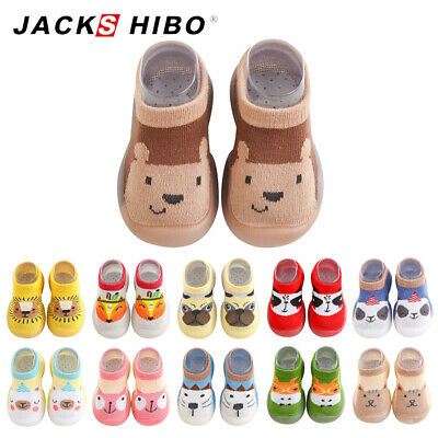 Baby Boys Girls Newborn Toddler Non-Slip First Walkers Crawling Shoes Crib Socks • 4.99£