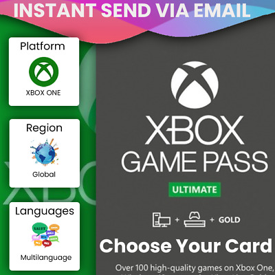 $ CDN13.29 • Buy Xbox Live Gold & Game Pass Ultimate Code - 1, 2, 3, 6, 12 Month Keys - *INSTANT*