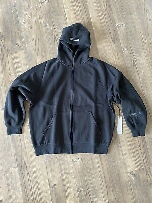 Fear Of God Essentials Zip Hoody - Stretch Limo Black - Size S • 180£