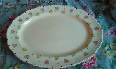 Ridgway Pottery Oval Plate • 5£