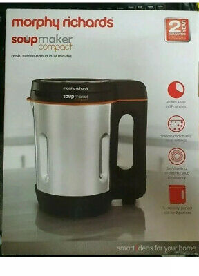 Morphy Richards 501021 Compact Soup Maker Blender Stainless Steel 1 Litre 1000W • 29.99£