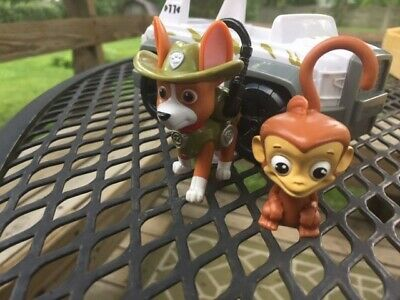 $30 • Buy Paw Patrol Tracker And Jungle Jeep (and His Monkey Friend) - Excellent Condition