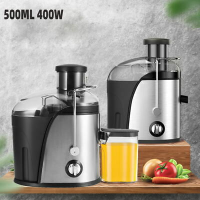 £28.99 • Buy 500ML Electric Juicer Machine Cold Press Fruit & Veg Extractor Blender Stainless