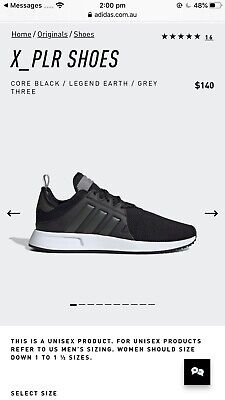 AU95 • Buy Adidas X_PLR Shoes Core Black / Legend Earth / Grey Three US9 RRP $140