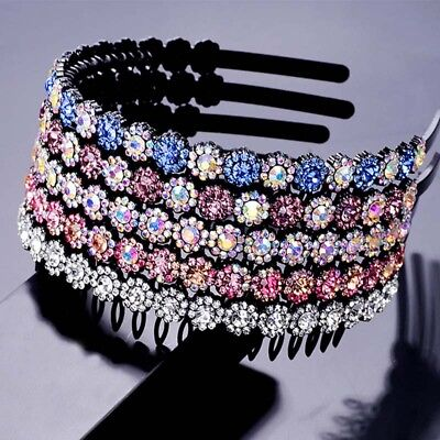 $ CDN4.52 • Buy Women's Crystal Flower Headband Tooth Hair Band Hair Accessories Wedding Party