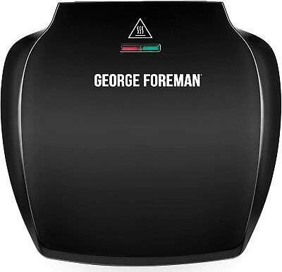 £28.75 • Buy George Foreman 23420 Family 5 Portion Contact Health Grill, Black - Brand New