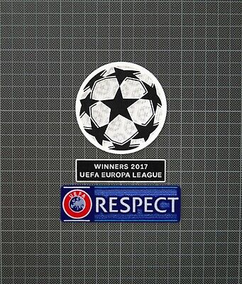 £8 • Buy UEFA Champions League & RESPECT Sleeve Patches Europa League Winners 2017