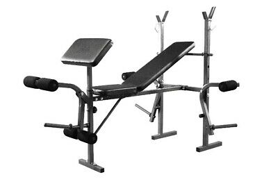 Weight Training Bench Adjustable Multi Gym Preacher Chest & Leg Exercise • 150£