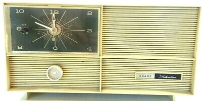 $ CDN46.94 • Buy Vtg Sears Silvertone Model 5031 Tube Radio Alarm Clock Retro Mid-Century Modern