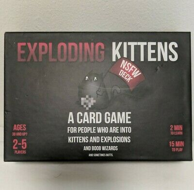 AU14.71 • Buy Exploding Kittens Card Game NSFW Deck Edition SEALED