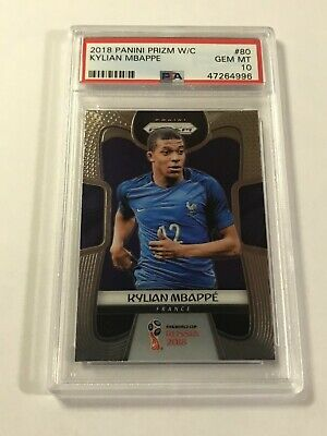 $ CDN1476.74 • Buy 2018 Panini Prizm World Cup Kylian Mbappe #80 RC PSA 10 Gem Mint Qty Avalable!