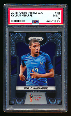 $ CDN161.25 • Buy 2018 Panini Prizm #80 Kylian Mbappe Rc France World Cup Rookie Card Psa 9 Mint!